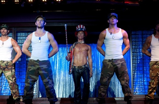 Joe Manganiello, Alex Pettyfer, Matthew McConaughey & Channing Tatum at First Look at Steven Soderbergh's MAGIC MIKE