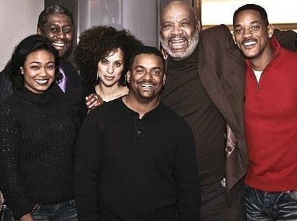 Tatayana Ali, Karen Parsons, Alfonso Ribeiro, James Avery & Will Smith