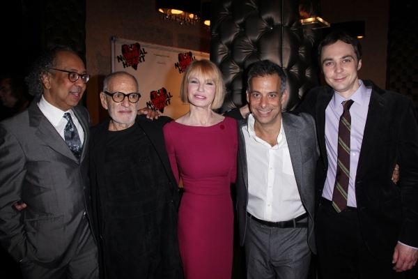 George C. Wolfe, Larry Kramer, Ellen Barkin, Joe Mantello and Jim Parsons