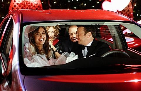 Claudia Bassols, Diana Maria Riva, Cheech Marin & Rob Schneider at Sneak Peek - A Second Wedding on CBS's ROB