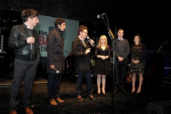 Kunal Nayyar, Simon Helberg, Johnny Galecki, Melissa Rauch, Jim Parson & Mayim Bialik at CBS's THE BIG BANG THEORY Celebrates Its 100th Episode