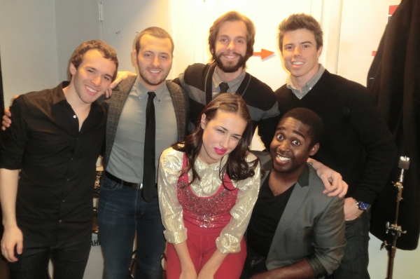 Dave Hull, Gabe Violett-Mike, Harrison, Rich Krakowski, Mykal Gilgore at Miranda Sings And More Spend The Holidays At Birdland