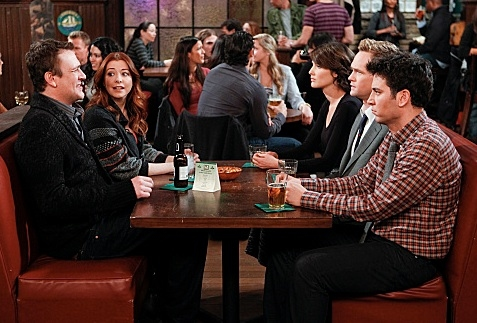Jason Segel, Alyson Hannigan, Cobie Smulders, Neil Patrick Harris & Josh Radnor at The 150th Episode of CBS's HOW I MET YOUR MOTHER Airing 1/16