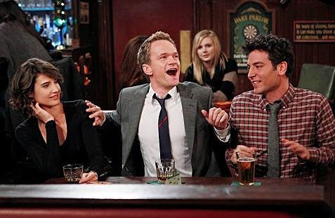 Cobie Smulders, Neil Patrick Harris & Josh Radnor at The 150th Episode of CBS's HOW I MET YOUR MOTHER Airing 1/16