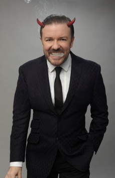 Ricky Gervais at First Look - Ricky Gervais to Host NBC's GOLDEN GLOBE AWARDS Airing 1/15
