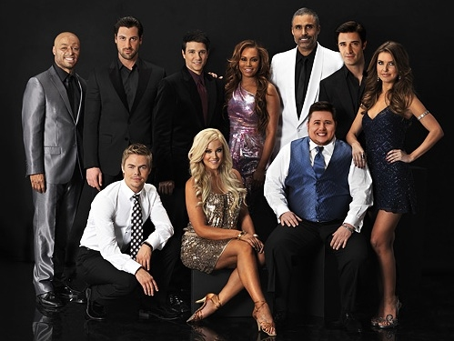 J.R. Martinez, Maksim Chmerkovskiy, Ralph Macchio, Mel B, Rick Fox, Gilles Marini, Audrina Patridge, Chaz Bono, Lacey Schwimmer & Derek Hough at GSN Hosts DANCING WITH THE STARS Reunion