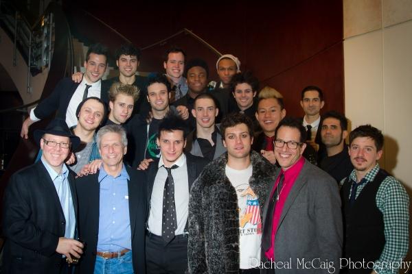 Aubrey Dan and Michael Mayer join the men of American Idiot Photo