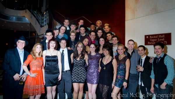 Aubrey Dan of Dancap Productions with the cast and crew of American Idiot