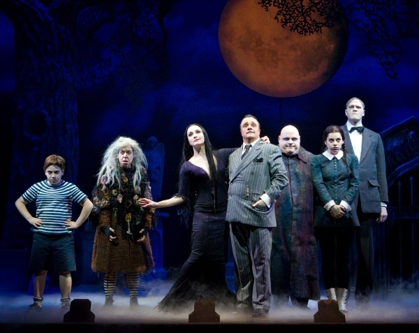Adam Riegler, Jackie Hoffman, Bebe Neuwirth, Nathan Lane, Kevin Chamberlin, Krysta Rodriguez and Zachary James (Broadway)
