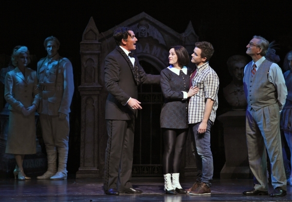 Douglas Sills, Cortney Wolfson, Brian Justin Crum and Martin Vidnovic (Tour) at Photo Flashback: THE ADDAMS FAMILY Closes on Broadway