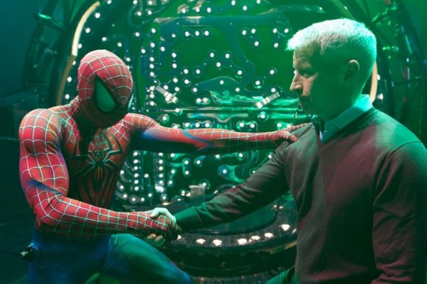 Christopher Tierney and Anderson Cooper at SPIDER-MAN Rescues New Year's Eve!