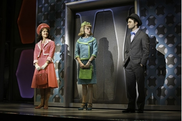 Rose Hemingway, Mary Faber and Daniel Radcliffe in HOW TO SUCCEED