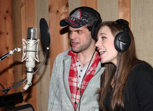 Photo Coverage: Inside the BONNIE & CLYDE Cast Album Recording with Frank Wildhorn, Jeremy Jordan, Laura Osnes & More!