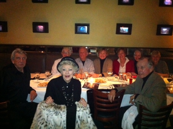 Dona D. Vaughn, Teri Ralston, Charlotte Raines, Jan Horvath, Elaine Stritch, and other guests at COMPANY OBC 'Reunion'