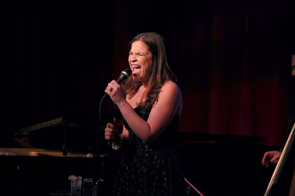Photo Flash: GODSPELL's Lindsay Mendez Visits Birdland!