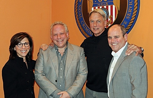 Nina Tassler, Gary Glasberg, Mark Harmon, David Stapf