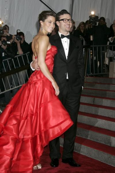 Jessica Biel and Justin Timberlake  at Justin Timberlake & Jessica Biel Get Engaged