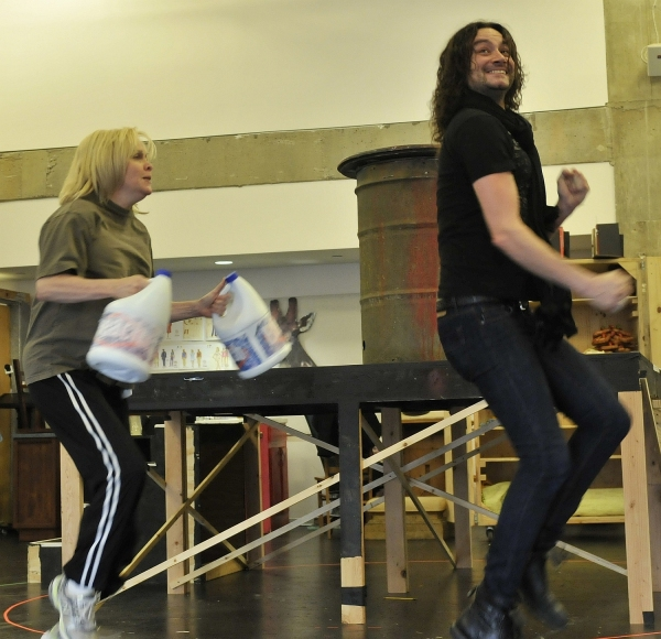 Photo Flash: First Look at Constantine Maroulis, Nancy Opel & More in Rehearsal for Alley Theater's THE TOXIC AVENGER!