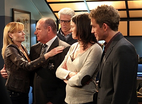 Marg Helgenberger, Ted Danson, Jorja Fox, Eric Szmanda at First Look - Marg Helgenberger's Final Episode of CBS's CSI Airing 1/25