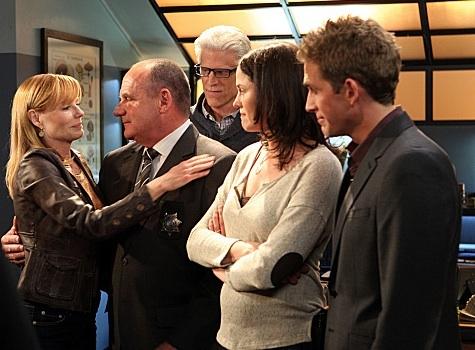 Marg Helgenberger, Ted Danson, Jorja Fox, Eric Szmanda at First Look - Marg Helgenberger's Final Episode of CBS's CSI Airing 1/25