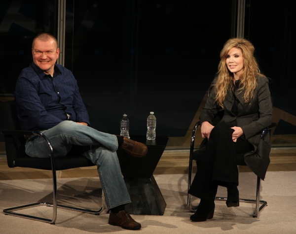 Alison Krauss at David Cross and Alison Krauss at New York Times Arts & Leisure Weekend
