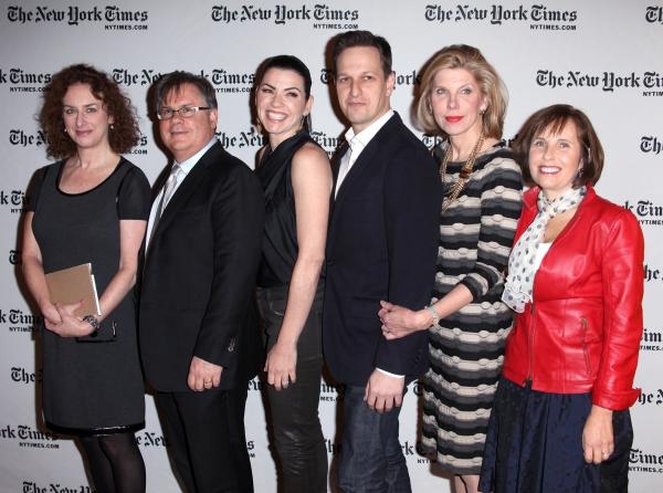 Interviewer Patricia Cohen, Writer Robert King, Julianna Margulies, Josh Charles, Christine Baranski & Writer Michelle King