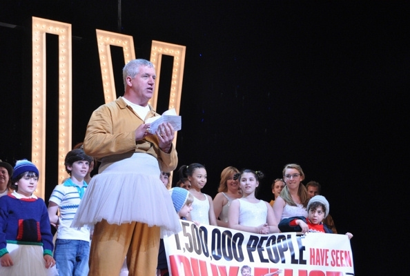 BILLY ELLIOT welcomes its 1,500,000th audience member. Photo