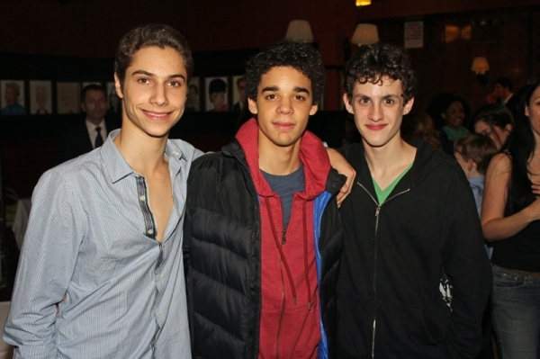 Kiril Kulish, David Alvarez and Trent Kowalik celebrate BILLY ELLIOT's 3rd Broadway anniversary.