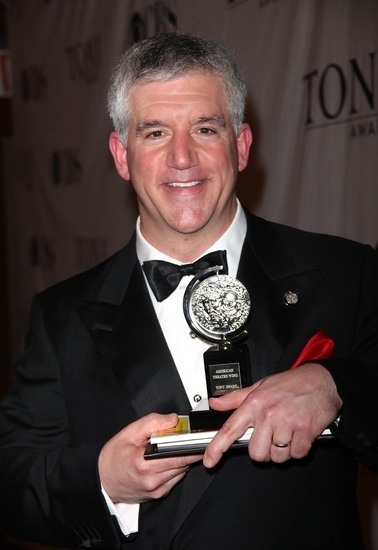 Gregory Jbara with his 2009 Tony Award for Best Supporting in a Musical.