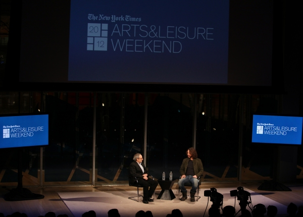 Photo Coverage: Michael Shannon & Chris Cornell Visit New York Times Arts & Leisure Weekend