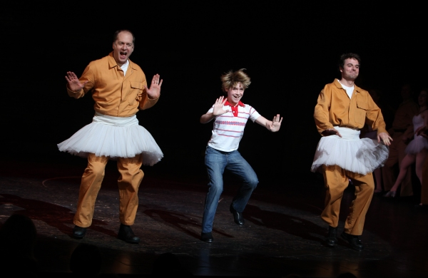 Daniel Jenkins, Joseph Harrington & Patrick Mulvey  at BILLY ELLIOT's Final Broadway Curtain Call