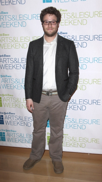 Seth Rogen  at Kristen Wiig & Seth Rogen Visit New York Times Arts & Leisure Weekend