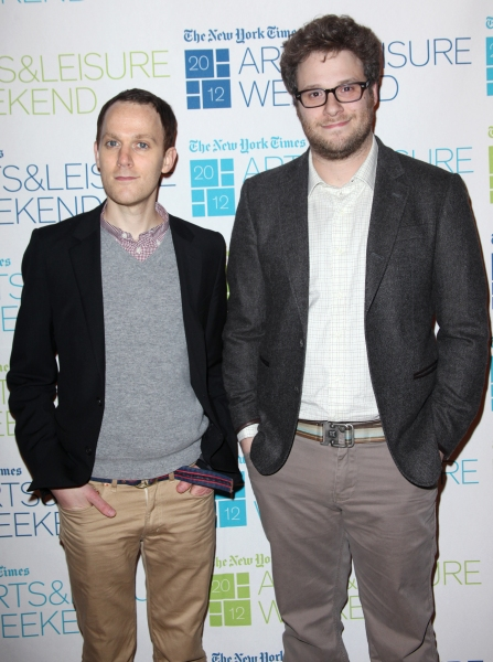 Photo Coverage: Kristen Wiig & Seth Rogen Visit New York Times Arts & Leisure Weekend