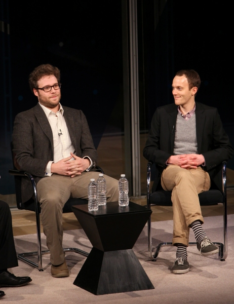 Seth Rogen & Will Reiser at Kristen Wiig & Seth Rogen Visit New York Times Arts & Leisure Weekend