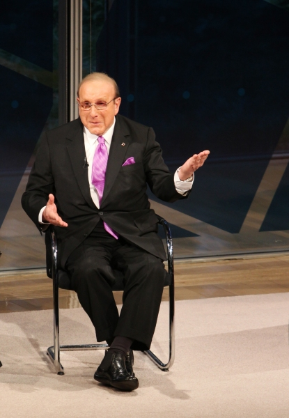Clive Davis at Clive Davis Visits New York Times Arts & Leisure Weekend