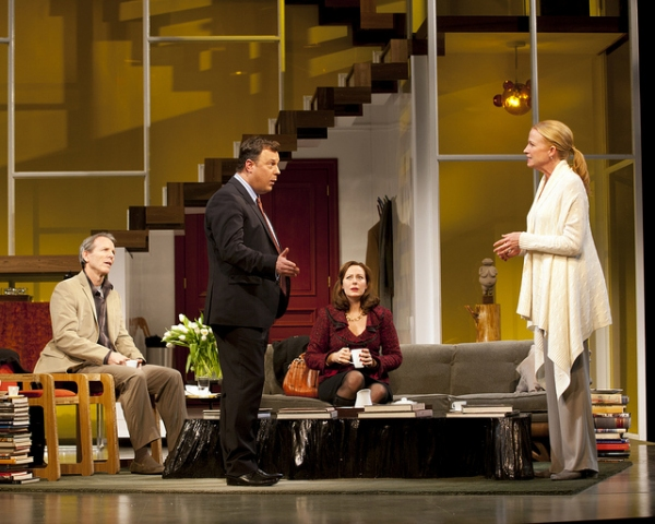 Johanna Day, Brooks Ashmanskas, Stephen Bogardus, and Christy Pusz  at First Look at Brooks Ashmanskas, Stephen Bogardus, et al. in Huntington Theatre Company's GOD OF CARNAGE