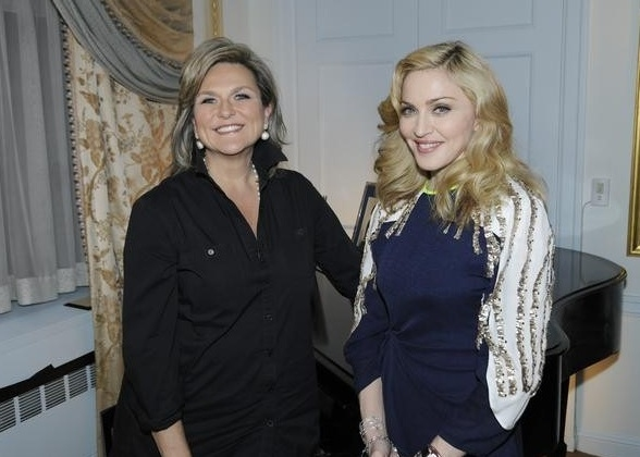 Cynthia McFadden & Madonna at First Look - Madonna Featured in ABC's  NIGHTLINE 1/12