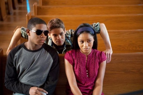 Dexter Darden, Jeremy Jordan, Keke Palmer at First Look at Jeremy Jordan, Queen Latifah in JOYFUL NOISE