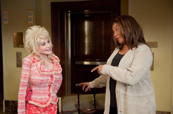 Dolly Parton, Queen Latifa at First Look at Jeremy Jordan, Queen Latifah in JOYFUL NOISE