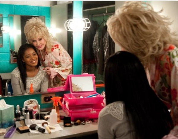 Keke Plamer, Dolly Parton at First Look at Jeremy Jordan, Queen Latifah in JOYFUL NOISE