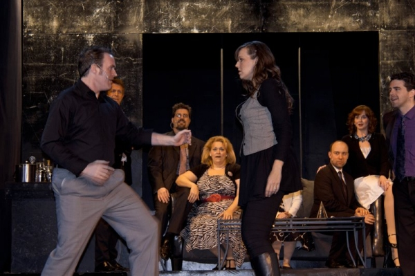 Geoff Davin, Rebekah Durham and the cast of Company