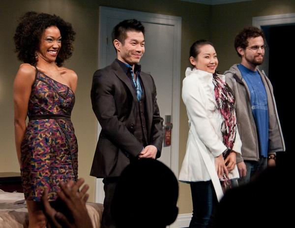 Sonequa Martin-Green, Nelson Lee, Li Jun Li, and Matthew Dellapina