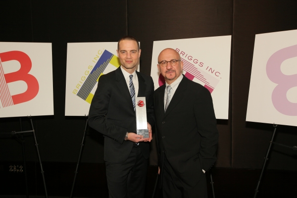 Jordan Roth with Briggs President Anthony Napoli.