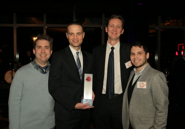 Jordan Roth with his GIVENIK team - Left to Right: Joe Tropia, Jordan Roth, Micah Hollingworth and Ben Cohen