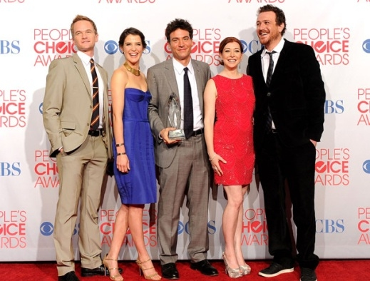 Neil Patrick Harris, Cobie Smulders, Josh Radnor, Alyson Hannigan & Jason Segel at Neil Patrick Harris Among Winners of 38th Annual PEOPLE'S CHOICE AWARDS