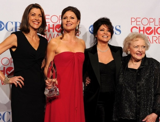 Wendie Malick, Jane Leeves,Valerie Bertinelli & Betty White  at Neil Patrick Harris Among Winners of 38th Annual PEOPLE'S CHOICE AWARDS