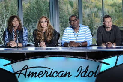 Steven Tyler, Jennifer Lopez, Randy Jackson & Ryan Seacrest
