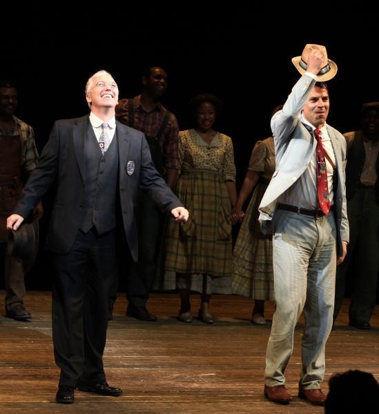 Joseph Dellger & Christopher Innvar at PORGY & BESS Opening Night Curtain Call!