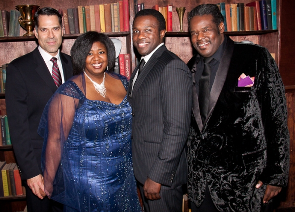 Christopher Innvar, NaTasha Yvette Williams, Joshua Henry, and Roosevelt Andre Credit at THE GERSHWIN'S PORGY & BESS Celebrates Opening Night on Broadway!