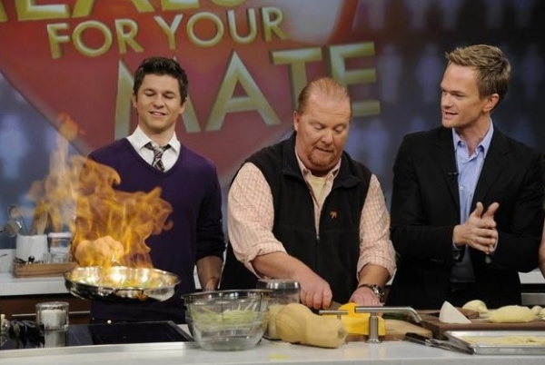 David Burtka, Mario Batali & Neil Patrick Harris at Sneak Peek - Neil Patrick Harris Featured on ABC's THE CHEW, 1/16
